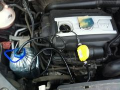 Electric pump for oil change through the dipstick
