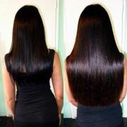 Hair extensions, eyelash extensions, Botox for hair keratin