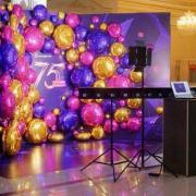 Modern entertainment for new year party
