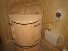 Oval cedar barrel with bevel from Altai cedar