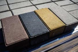Paving slabs and garden curbs in Yuzhno-Sakhalinsk