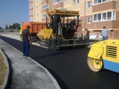 Repair, installation, asphalting of roads, concrete works, etc