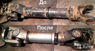 Repairs and manufacturing of cardan shafts in St. Petersburg