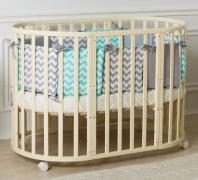 Stylish round baby Cribs 3in1 Incanto Gio from designers