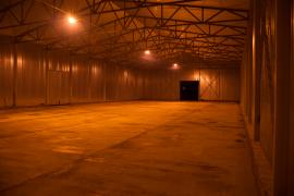 The new storage building, 960 sq. m