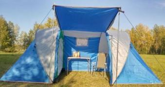 Tourist booths and tents. Izhevsk